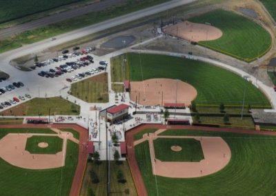 Schilke Ball Fields aeriel view